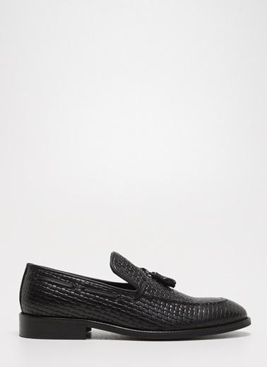D by Divarese Deri Makosen Ayakkabı Siyah